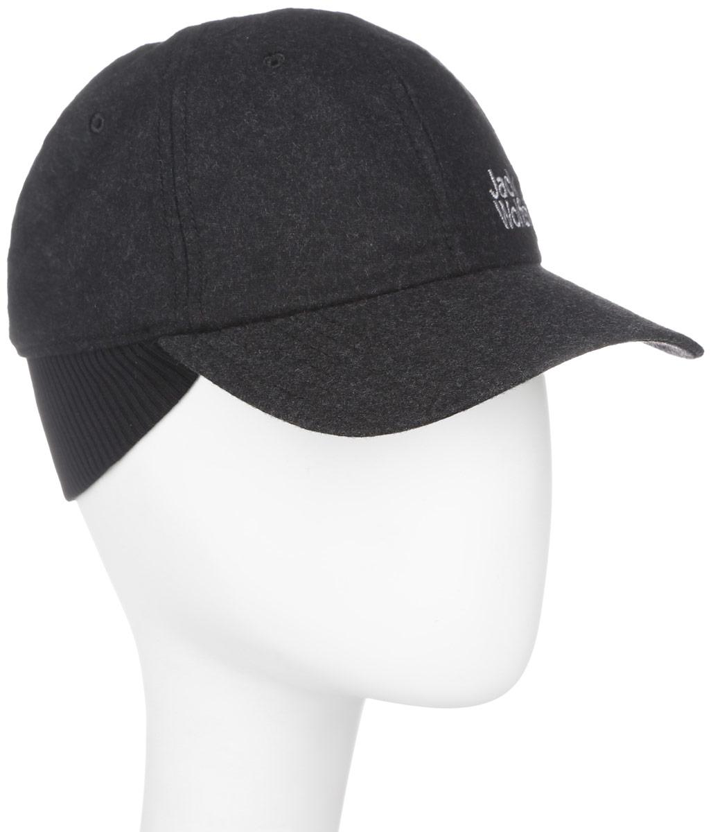 Бейсболка Jack Wolfskin Base Ear Cap, цвет: темно-серый. 1905251-6350. Размер 57/601905251-6350Прочная зимняя бейсболка Jack Wolfskin с защитным элементом для шеи. Прочность и функциональность для холодных дней: плотная и легко согревающая BASE EAR CAP из шерстяной фланели.Для дополнительной защиты от холода шапка дополнена подкладкой из мягкого микрофлиса. Раскладной защитный элемент для шеи защищает от сквозняка и холодного ветра. Модель оформлена логотипом бренда. Зимняя бейсболка не только теплый головной убор, но и изящный аксессуар. Она подчеркнет ваш стиль и индивидуальность!