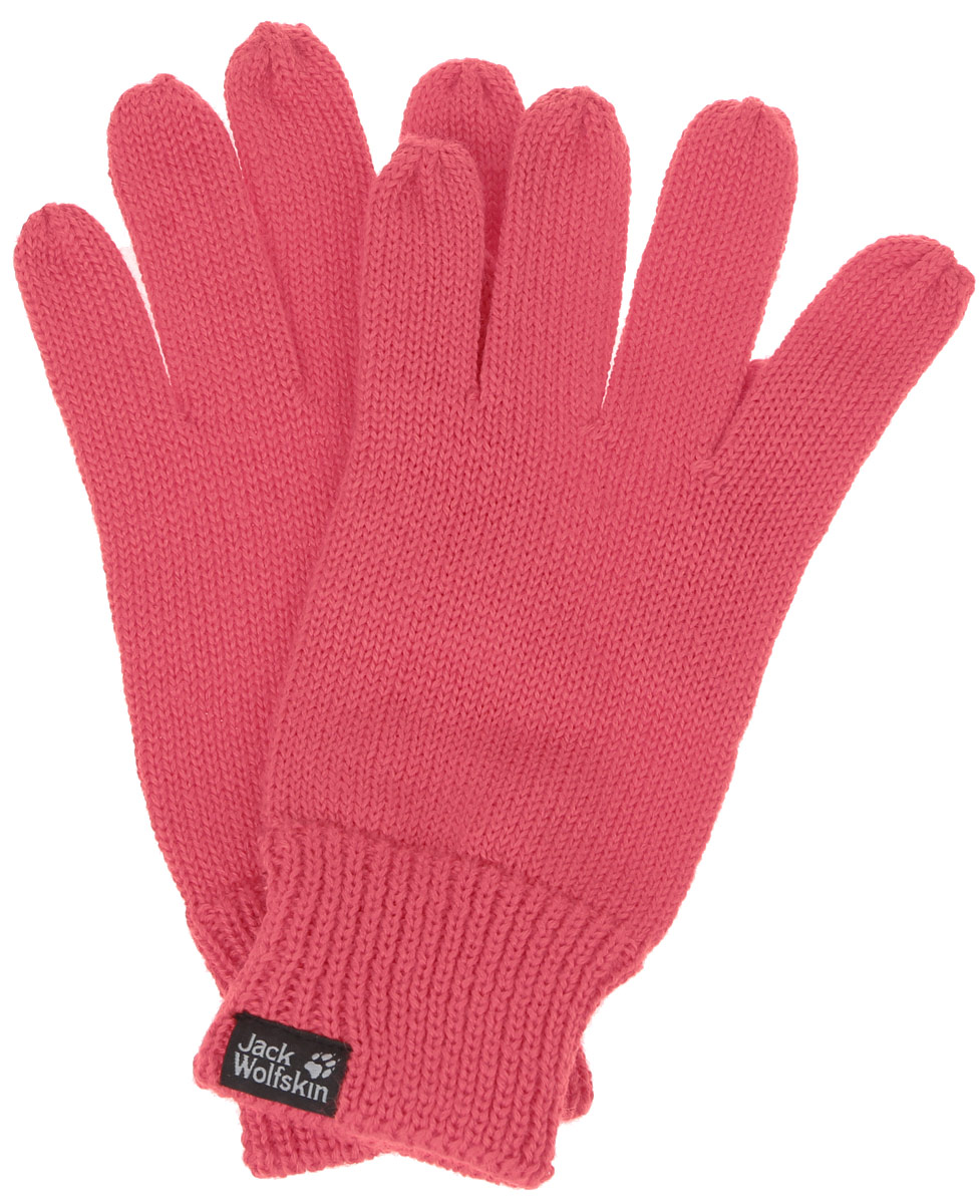 Перчатки Jack Wolfskin Milton Glove, цвет: красный. 1905141-2260. Размер 23,5/25,51905141-2260Теплые вязаные перчатки Jack Wolfskin MILTON связаны из шерсти и синтетического волокна. Натуральный материал обеспечивает хорошую защиту от холода. А ребристые манжеты дополнительно защищают руки от холода. Уютные шерстяные перчатки оформлены в одной цветовой гамме и дополнены логотипом бренда. Верх модели на мягкой резинке, которая не стягивает запястья и надежно фиксируюет перчатки на руках.Современный дизайн и расцветка делают эти перчатки модным и стильным предметом вашего гардероба. В них вы будет чувствовать себя уютно и комфортно.