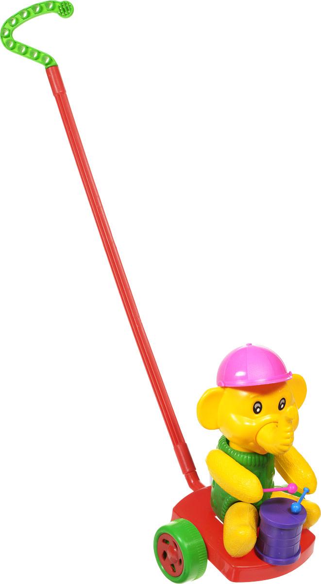 Wieslaw Suchanek Игрушка-каталка Слоник с барабаном цвет красный зеленый желтый каталка утенок с ластами max suchanek