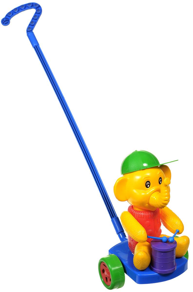 Wieslaw Suchanek Игрушка-каталка Слоник с барабаном цвет синий красный желтый каталка утенок с ластами max suchanek