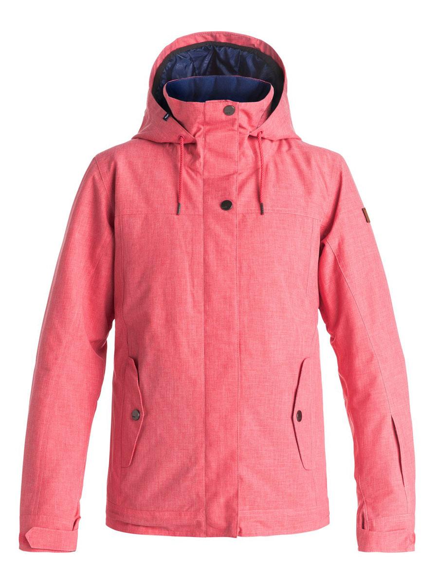 Куртка женская Roxy Billie, цвет: розовый. ERJTJ03060-MLR0. Размер M (44;46)ERJTJ03060-MLR0Женская куртка выполнена из полиэстера с утеплителем Warmflight (тело 120 г, рукава 100 г, капюшон 60 г). Подкладка из тафты со вставками из трикотажа с начесом. Критические швы проклеены. Съемный капюшон регулируется тремя способами. Фиксированная противоснежная юбка из тафты с удобными кнопками. Система пристегивания куртки к штанам. Подкладка в районе подбородка. Куртка дополнена нагрудным карманом, внутренним медиакарманом, внутренним карманом для маски, брелоком для ключей. Лайкровые гейтеры в рукавах. Кармашек для скипасса на рукаве. Сеточная вентиляция подмышками. Карманы с теплой подкладкой.