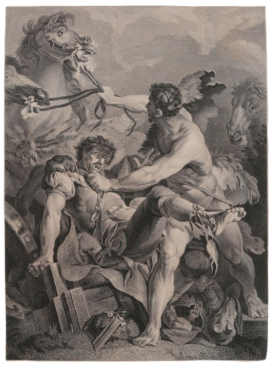 Античный сюжет. Гравюра на меди. Западная Европа, XVIII век