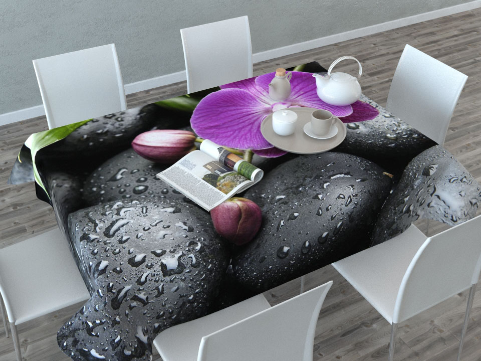 Скатерть Сирень Орхидея на камнях, прямоугольная, 145 x 120 см00209-СК-ГБ-003Прямоугольная скатерть Сирень Орхидея на камнях с ярким и объемным рисунком, выполненная из габардина, преобразит вашу кухню, визуально расширит пространство, создаст атмосферу радости и комфорта. Рекомендации по уходу: стирка при 30 градусах, гладить при температуре до 110 градусов.Размер скатерти: 145 х 120 см. Изображение может немного отличаться от реального.