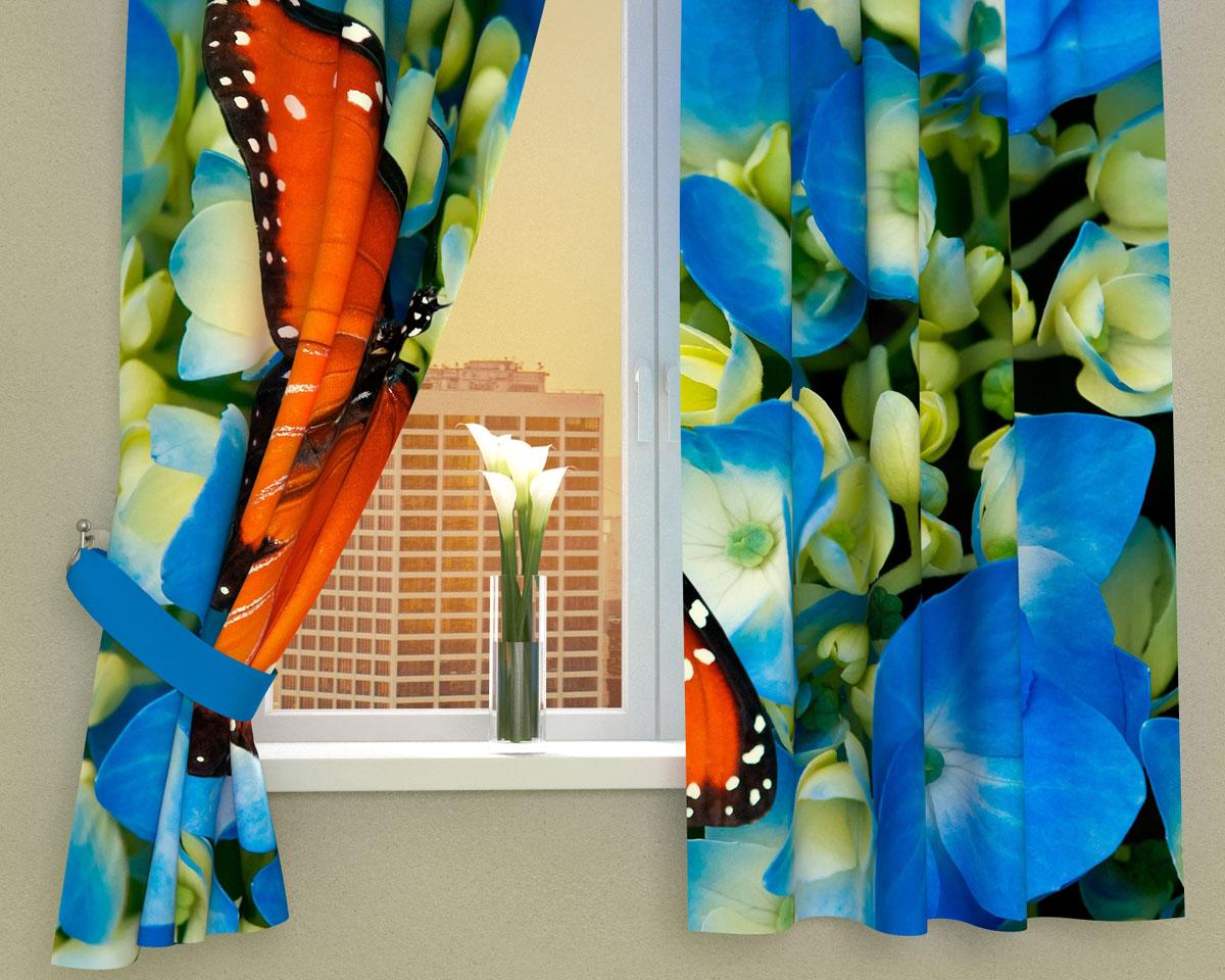 Комплект фотоштор Сирень Бабочка в цветах, на ленте, высота 160 см00753-ФК-ГБ-002Фотошторы для кухни Сирень Бабочка в цветах, выполненные из габардина (100% полиэстера), отлично дополнят украшение любого интерьера. Особенностью ткани габардин является небольшая плотность, из-за чего ткань хорошо пропускает воздух и солнечный свет. Ткань хорошо держит форму, не требует специального ухода. Крепление на карниз при помощи шторной ленты на крючки. В комплекте 2 шторы. Ширина одного полотна: 145 см.Высота штор: 160 см.Рекомендации по уходу: стирка при 30 градусах, гладить при температуре до 110 градусов.Изображение на мониторе может немного отличаться от реального.Подхваты в комплект не входят.