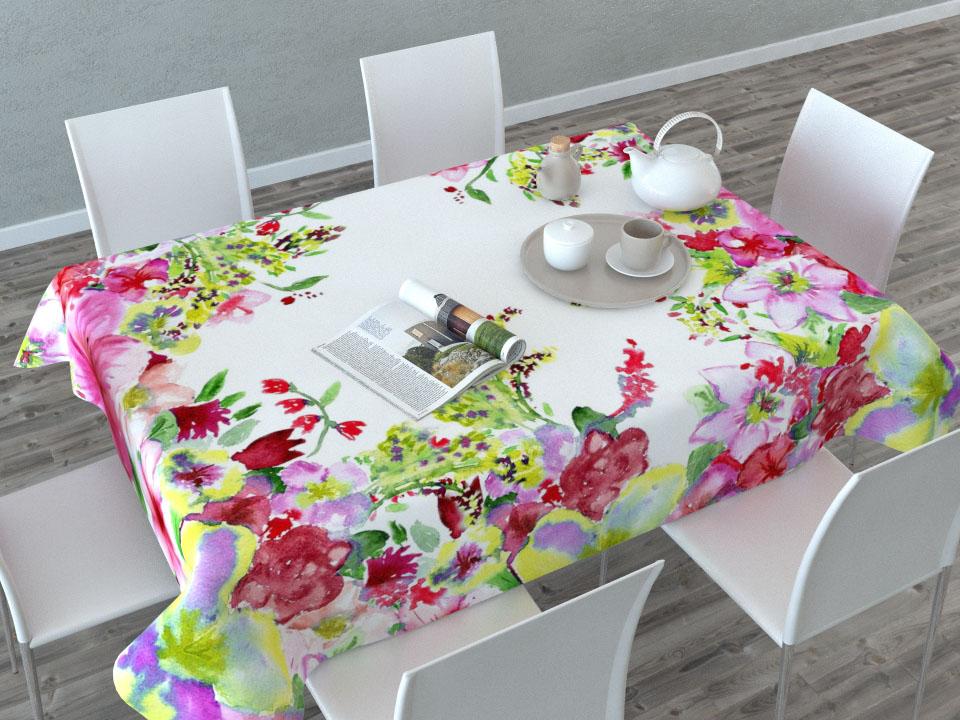 Скатерть Сирень Акварельные цветы, прямоугольная, 145 x 120 см01480-СК-ГБ-003Прямоугольная скатерть Сирень Акварельные цветы, выполненная из габардина, с ярким и объемным рисунком преобразит вашу кухню, визуально расширит пространство, создаст атмосферу радости и комфорта. Рекомендации по уходу: стирка при 30 градусах, гладить при температуре до 110 градусов.Размер скатерти: 145 х 200 см. Изображение может немного отличаться от реального.