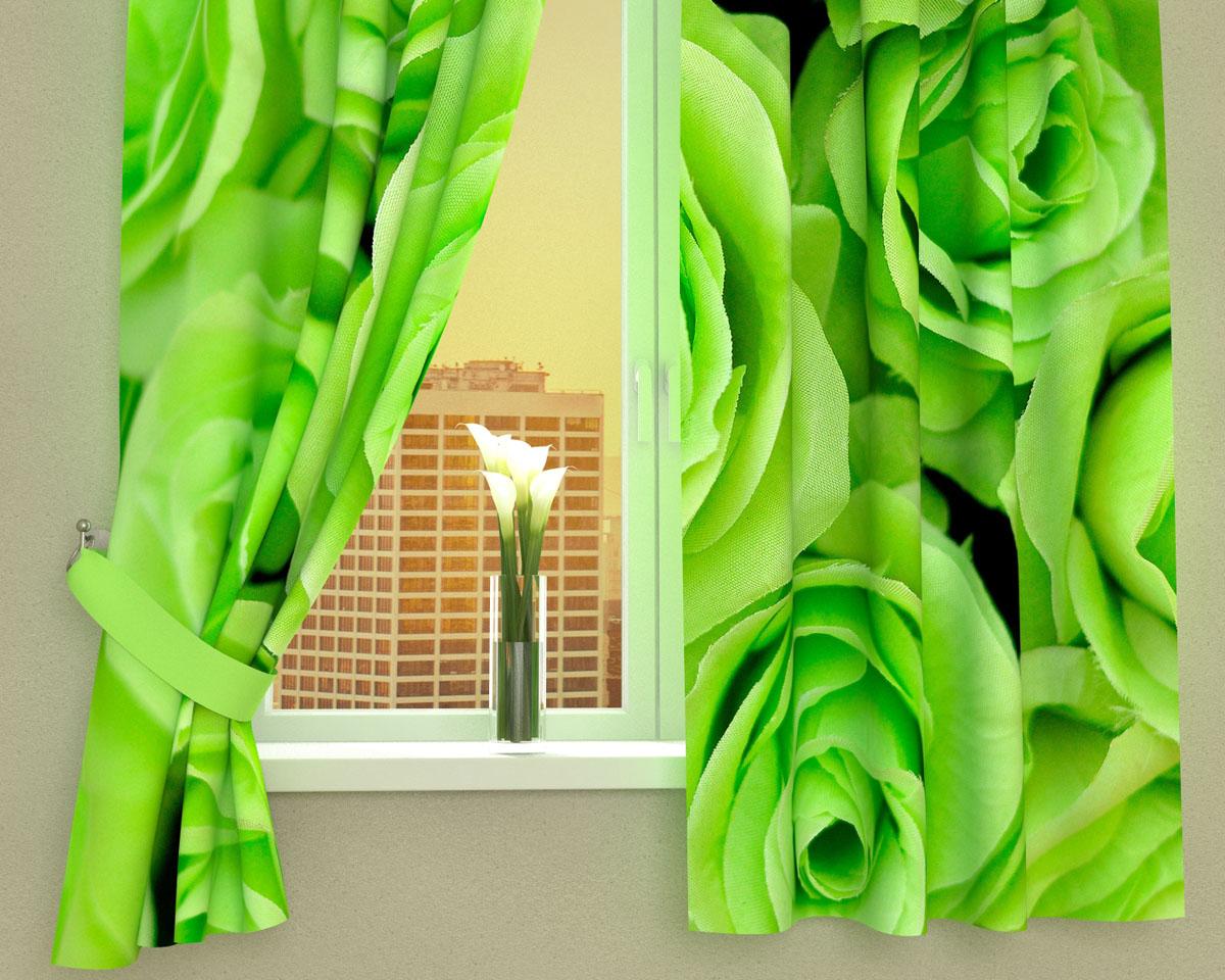 Комплект фотоштор Сирень Зеленые розы, на ленте, высота 160 см01825-ФК-ГБ-002Фотошторы для кухни Сирень Зеленые розы, выполненные из габардина (100% полиэстера), отлично дополнят украшение любого интерьера. Особенностью ткани габардин является небольшая плотность, из-за чего ткань хорошо пропускает воздух и солнечный свет. Ткань хорошо держит форму, не требует специального ухода. Крепление на карниз при помощи шторной ленты на крючки. В комплекте 2 шторы. Ширина одного полотна: 145 см.Высота штор: 160 см.Рекомендации по уходу: стирка при 30 градусах, гладить при температуре до 110 градусов.Изображение на мониторе может немного отличаться от реального.Подхваты в комплект не входят.