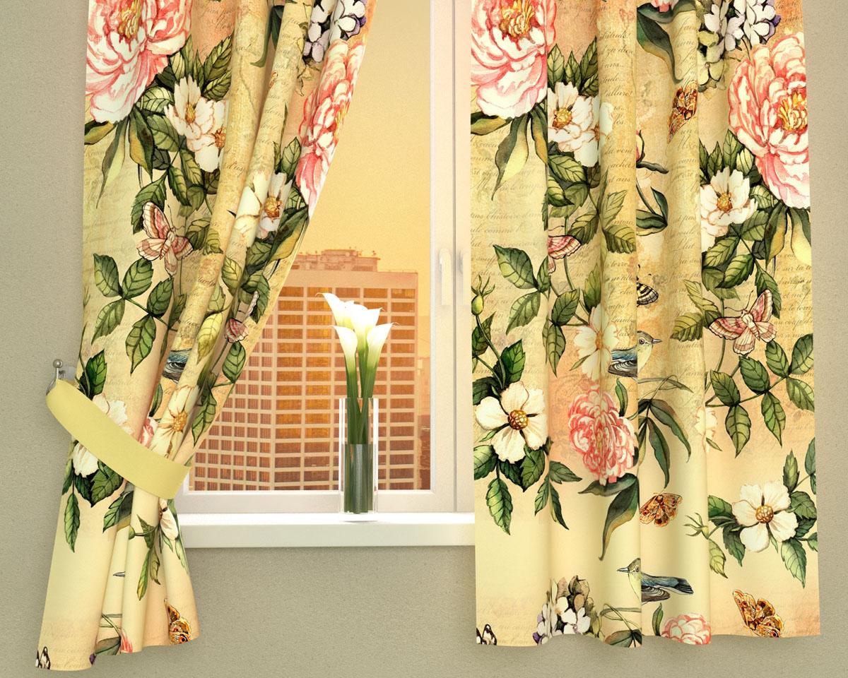 Комплект фотоштор Сирень Винтажные цветы, на ленте, высота 160 см02403-ФК-ГБ-002Фотошторы для кухни Сирень Винтажные цветы, выполненные из габардина (100% полиэстера), отлично дополнят украшение любого интерьера. Особенностью ткани габардин является небольшая плотность, из-за чего ткань хорошо пропускает воздух и солнечный свет. Ткань хорошо держит форму, не требует специального ухода. Крепление на карниз при помощи шторной ленты на крючки. В комплекте 2 шторы. Ширина одного полотна: 145 см.Высота штор: 160 см.Рекомендации по уходу: стирка при 30 градусах, гладить при температуре до 110 градусов.Изображение на мониторе может немного отличаться от реального.Подхваты в комплект не входят.