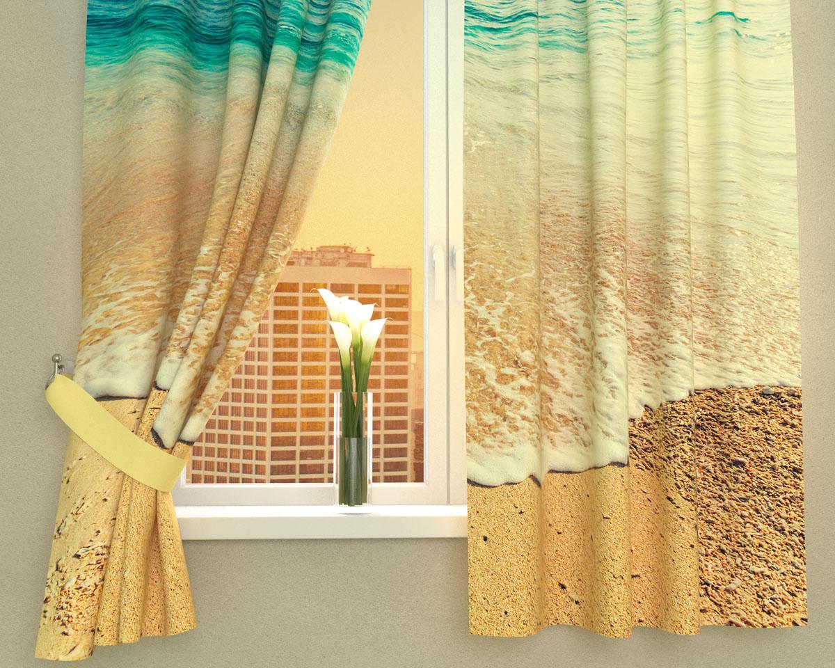 Комплект фотоштор Сирень Дикий пляж, на ленте, высота 160 см03016-ФК-ГБ-002Фотошторы для кухни Сирень Дикий пляж, выполненные из габардина (100% полиэстера), отлично дополнят украшение любого интерьера. Особенностью ткани габардин является небольшая плотность, из-за чего ткань хорошо пропускает воздух и солнечный свет. Ткань хорошо держит форму, не требует специального ухода. Крепление на карниз при помощи шторной ленты на крючки. В комплекте 2 шторы. Ширина одного полотна: 145 см.Высота штор: 160 см.Рекомендации по уходу: стирка при 30 градусах, гладить при температуре до 110 градусов.Изображение на мониторе может немного отличаться от реального.Подхваты в комплект не входят.