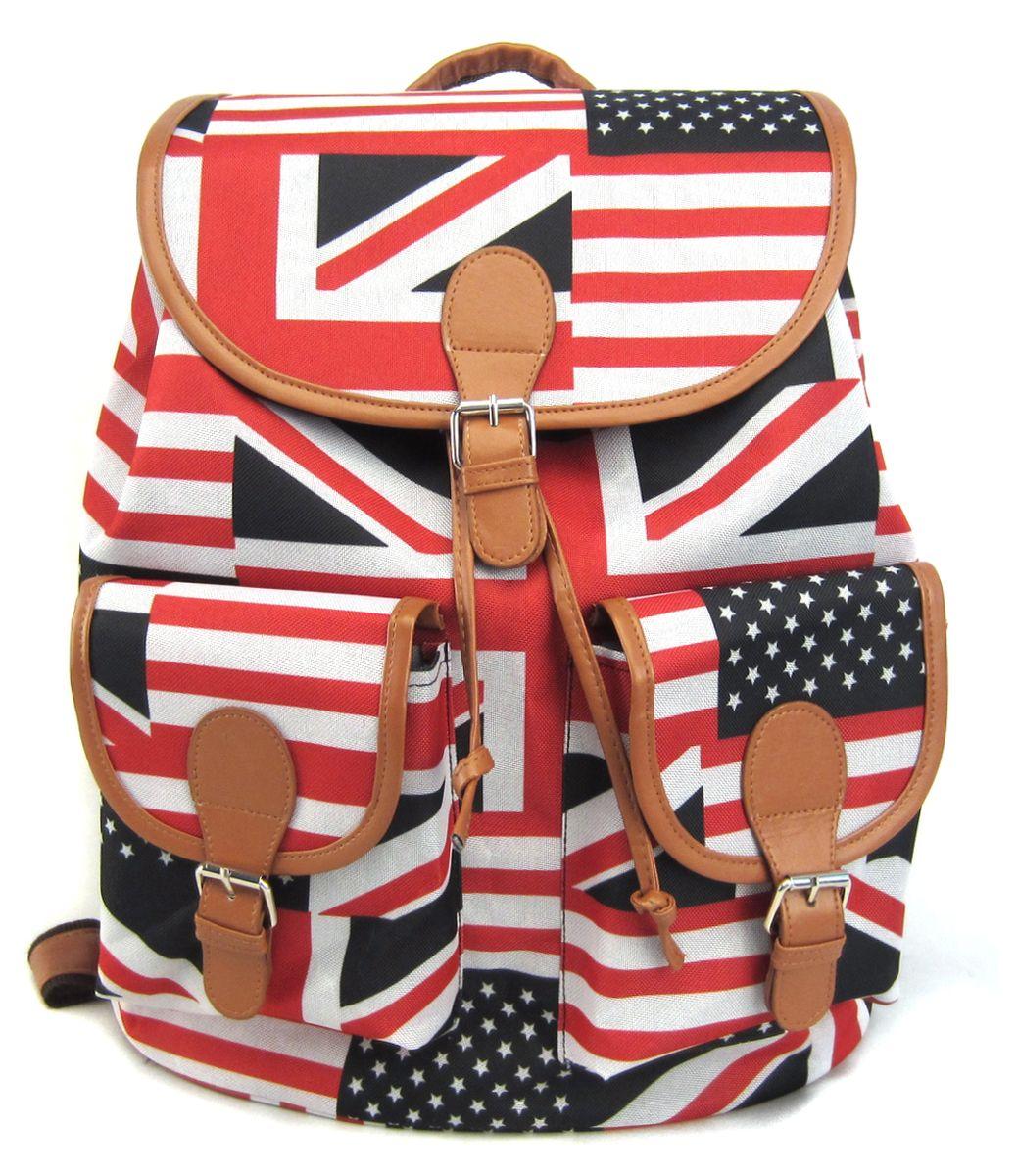 Рюкзак молодежный Creative British Flag, цвет: мультиколор, 23 лGL-BC853Рюкзак молодежный Creative American Flag - лаконичная и очень удобная модель, в которую поместится все: школьные принадлежности и завтрак, спортивная форма, любимые игрушки, ноутбук. Подвесная система позволяет регулировать лямки и тем самым адаптировать изделие под рост владельца. Мягкие лямки обеспечат комфорт даже при длительном ношении рюкзака. Внутреннее пространство рюкзака вместит всё необходимое. Благодаря текстильной ручке рюкзак можно повесить. Выполнен рюкзак из влагостойкой ткани. Этот рюкзак - точно выделит своего владельца из толпы и привлечет к нему множество заинтересованных взглядов.