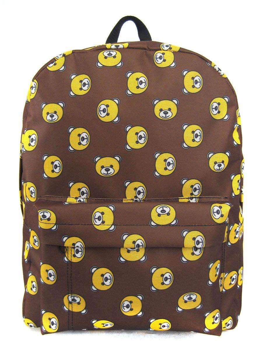 Рюкзак молодежный Creative Мишки, цвет: коричневый, 16 л oiwas ноутбук рюкзак мода случайные
