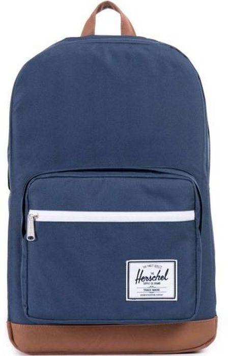 Рюкзак городской Herschel Pop Quiz, цвет: синий, коричневый, 22 л10011-00007-OSРюкзак Herschel Pop Quiz выполнен из высококачественного материала. Этот рюкзак создан для любых целей и поездок, отлично впишется в абсолютно любой стиль. Основное отделение закрывается на застежку-молнию. Внешняя сторона дополнена накладным карманом на застежке-молнии. Лямки регулируются, что позволяет менять положение рюкзака на спине.