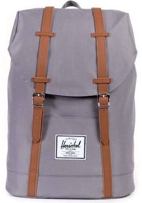 Рюкзак городской Herschel Retreat, цвет: серый, коричневый, 19,5 л рюкзак городской herschel settlement цвет светло зеленый черный 23 л 10005 01555 os