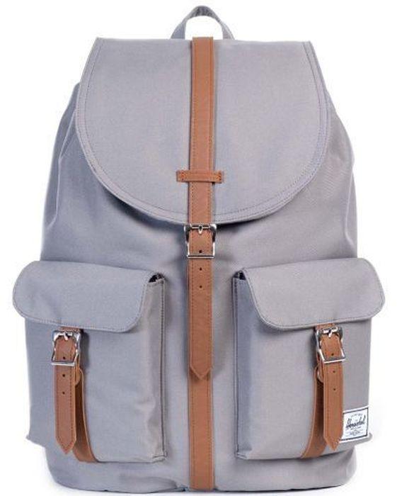 Рюкзак городской Herschel Dawson, цвет: серый, коричневый, 20,5 л рюкзак городской herschel settlement цвет светло зеленый черный 23 л 10005 01555 os