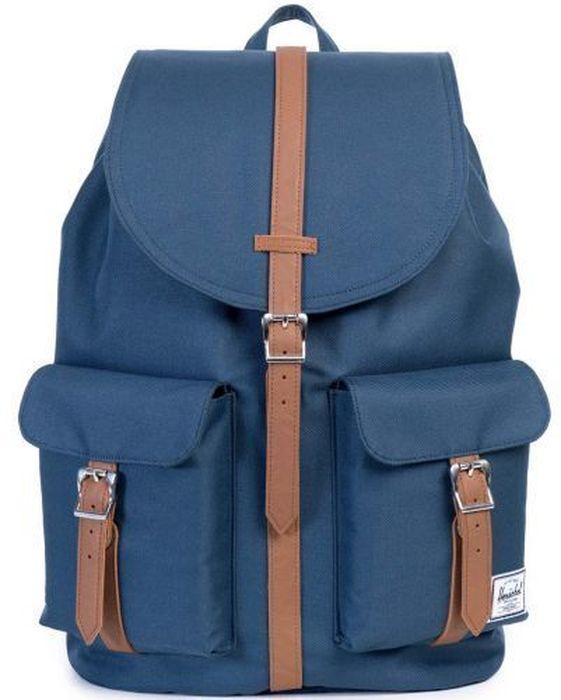Рюкзак городской Herschel Dawson, цвет: синий, коричневый, 20,5 л рюкзак городской herschel settlement цвет светло зеленый черный 23 л 10005 01555 os
