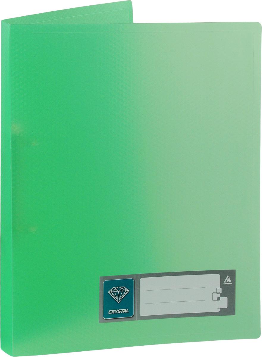 Бюрократ Папка на 2-х кольцах Crystal формат А4 цвет зеленый816534_зеленыйПапка на кольцах Бюрократ Crystal - это удобный и функциональный офисный инструмент, предназначенный для хранения и транспортировки рабочих бумаг и документов формата А4.Папка оснащена двумя металлическими кольцами, что позволяет закреплять перфорированные документы. Углы папки закруглены, чтобы надолго обеспечить опрятный вид папки. Папка - это незаменимый атрибут для любого студента, школьника или офисного работника. Такая папка надежно сохранит ваши бумаги и сбережет их от повреждений, пыли и влаги.