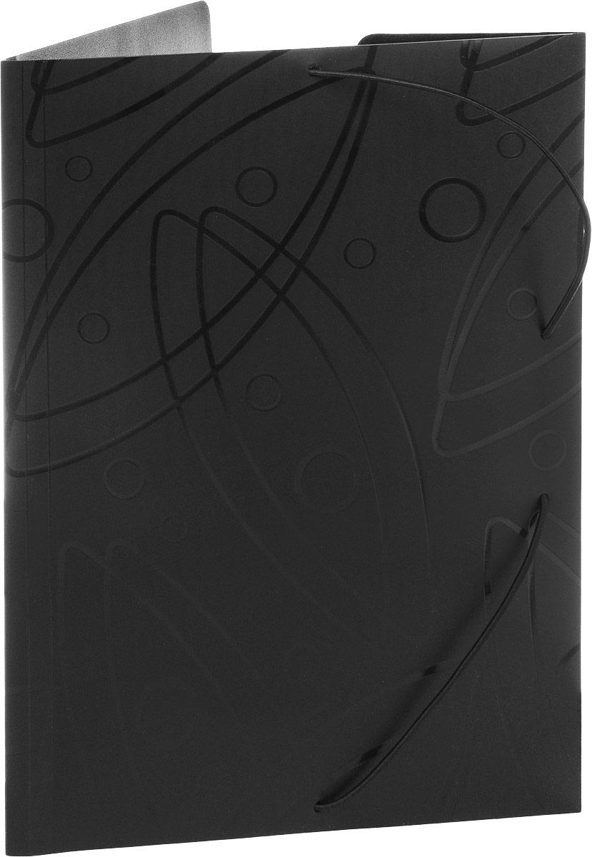 Бюрократ Папка на резинке Galaxy формат А4 цвет черный816765_черныйПапка на резинке Galaxy - это удобный и функциональный офисный инструмент, предназначенный для хранения и транспортировки большого объема рабочих бумаг и документов формата А4.Папка изготовлена из жесткого, но гибкого фактурного пластика и закрывается при помощи угловых резинок. Резинки не позволят папке раскрыться в неподходящий момент. Папка надежно сохранит ваши документы и сбережет их от повреждений, пыли и влаги.
