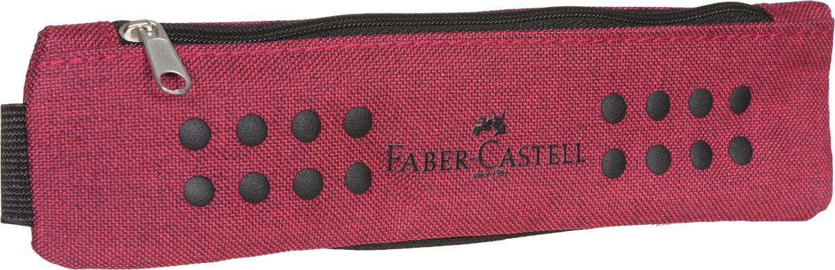 Faber-Castell Пенал Grip цвет красный573122Стильный и лаконичный пенал Faber-Castell выполнен из прочного материала. Пенал содержит одно отделение для канцелярских принадлежностей и закрывается на застежку-молнию.