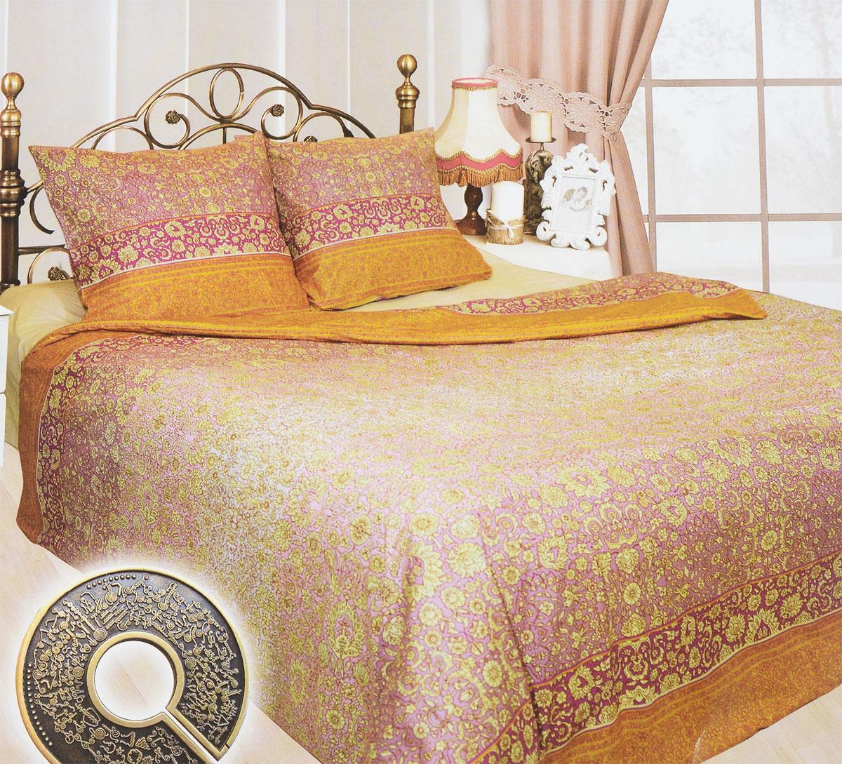 Комплект белья Sova & Javoronok Индира, 1,5-спальный, наволочки 50х702030815210Комплект постельного белья Индира является экологически безопасным для всей семьи, так как выполнен из бязи (натурального хлопка). Комплект состоит из пододеяльника, простыни и двух наволочек. Предметы комплекта оформлены оригинальным рисунком.Бязь - 100 % хлопок, хлопчатобумажная ткань полотняного переплетения без искусственных добавок. Большое количество нитей делает эту ткань более плотной, более долговечной. Высокая плотность ткани позволяет сохранить форму изделия, его первоначальные размеры и первозданный рисунок. Обладает низкой сминаемостью, легко стирается и хорошо гладится. При соблюдении рекомендуемых условий стирки, сушки и глажения ткань имеет усадку по ГОСТу, сохраняется яркость текстильных рисунков.