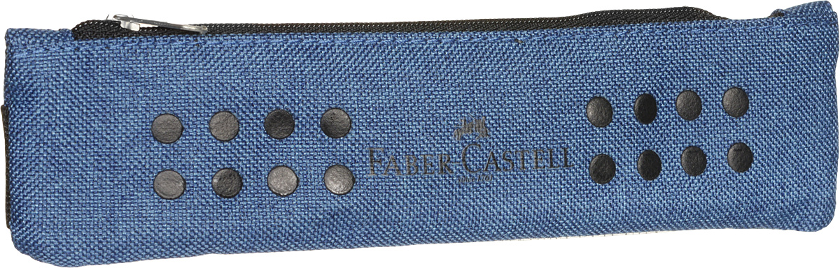 Faber-Castell Пенал Grip цвет синий пеналы faber castell пенал