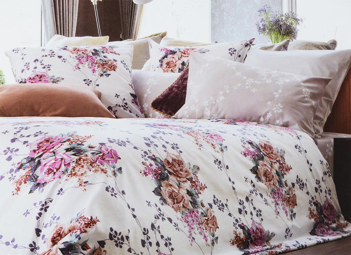 Комплект белья Tiffanys Secret Жемчужное облако, евро, наволочки 70х70, цвет: белый, бежевый, розовый2040816133Комплект постельного белья Tiffanys Secret Жемчужное облако является экологически безопасным для всей семьи, так как выполнен из сатина (100% хлопок). Комплект состоит из пододеяльника, простыни и двух наволочек. Предметы комплекта оформлены оригинальным рисунком.Благодаря такому комплекту постельного белья вы сможете создать атмосферу уюта и комфорта в вашей спальне.Сатин - это ткань, навсегда покорившая сердца человечества. Ценившие роскошь персы называли ее атлас, а искушенные в прекрасном французы - сатин. Секрет высококачественного сатина в безупречности всего технологического процесса. Эту благородную ткань делают только из отборной натуральной пряжи, которую получают из самого лучшего тонковолокнистого хлопка. Благодаря использованию самой тонкой хлопковой нити получается необычайно мягкое и нежное полотно. Сатиновое постельное белье превращает жаркие летние ночи в прохладные и освежающие, а холодные зимние - в теплые и согревающие. Сатин очень приятен на ощупь, постельное белье из него долговечно, выдерживает более 300 стирок, и лишь спустя долгое время материал начинает немного тускнеть. Оцените все достоинства постельного белья из сатина, выбирая самое лучшее для себя!
