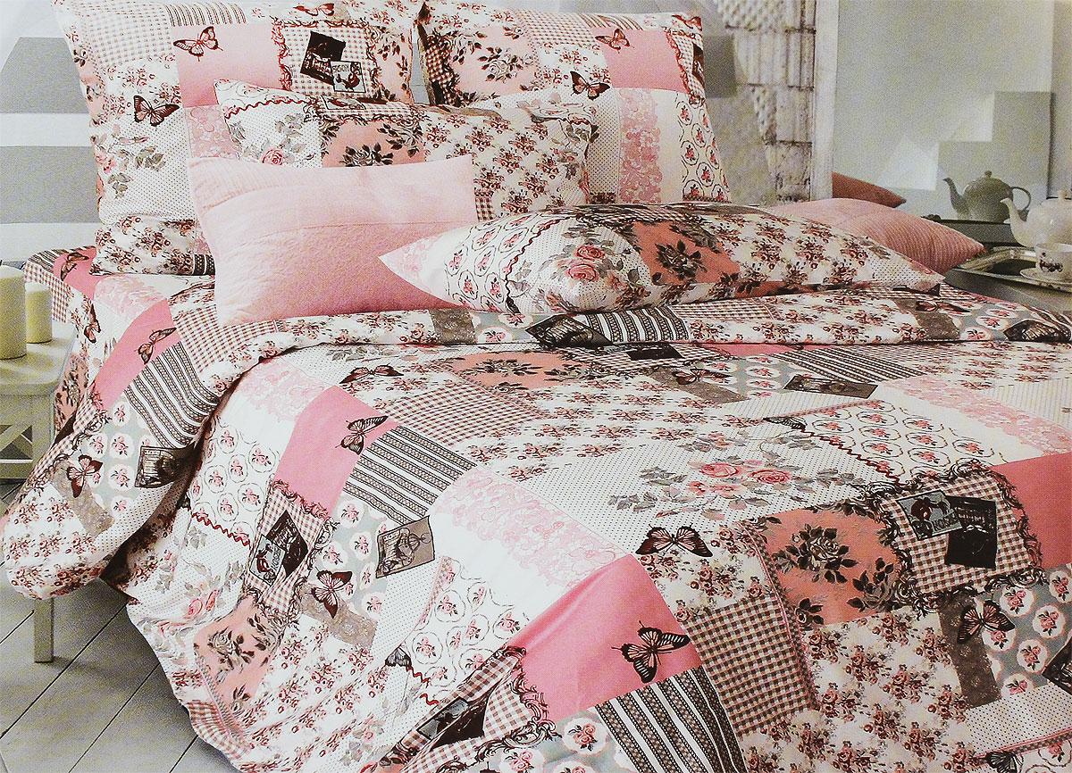 Комплект белья Tiffanys Secret Зефирные сны, 2-спальный, наволочки 70х70, цвет: розовый, серый, белый2040115970Комплект постельного белья Tiffanys Secret Зефирные сны является экологически безопасным для всей семьи, так как выполнен из сатина (100% хлопок). Комплект состоит из пододеяльника, простыни и двух наволочек. Предметы комплекта оформлены оригинальным рисунком.Благодаря такому комплекту постельного белья вы сможете создать атмосферу уюта и комфорта в вашей спальне.Сатин - это ткань, навсегда покорившая сердца человечества. Ценившие роскошь персы называли ее атлас, а искушенные в прекрасном французы - сатин. Секрет высококачественного сатина в безупречности всего технологического процесса. Эту благородную ткань делают только из отборной натуральной пряжи, которую получают из самого лучшего тонковолокнистого хлопка. Благодаря использованию самой тонкой хлопковой нити получается необычайно мягкое и нежное полотно. Сатиновое постельное белье превращает жаркие летние ночи в прохладные и освежающие, а холодные зимние - в теплые и согревающие. Сатин очень приятен на ощупь, постельное белье из него долговечно, выдерживает более 300 стирок, и лишь спустя долгое время материал начинает немного тускнеть. Оцените все достоинства постельного белья из сатина, выбирая самое лучшее для себя!