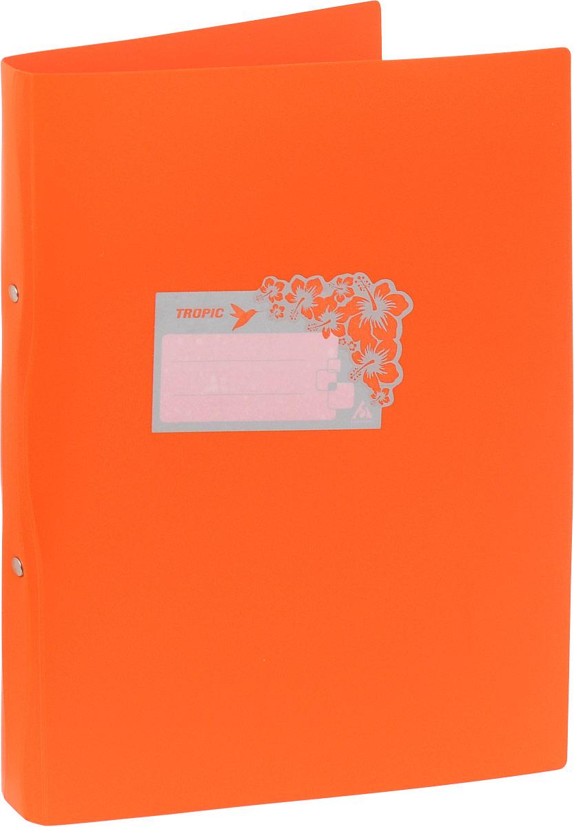 Бюрократ Папка-скоросшиватель Tropic формат А4 цвет оранжевый папка с 40 прозр вклад бюрократ crystal cr40or a4 пластик 0 5мм оранжевый