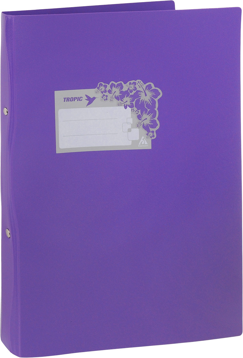Бюрократ Папка-скоросшиватель Tropic формат А4 цвет фиолетовый816882/816887Папка Бюрократ Tropic формата А4 идеально подходит для подшивки бумаг в архивные папки с помощью металлического скоросшивателя. Папка изготовлена из прочного высококачественного пластика. С такой папкой все ваши документы будут в полной сохранности.