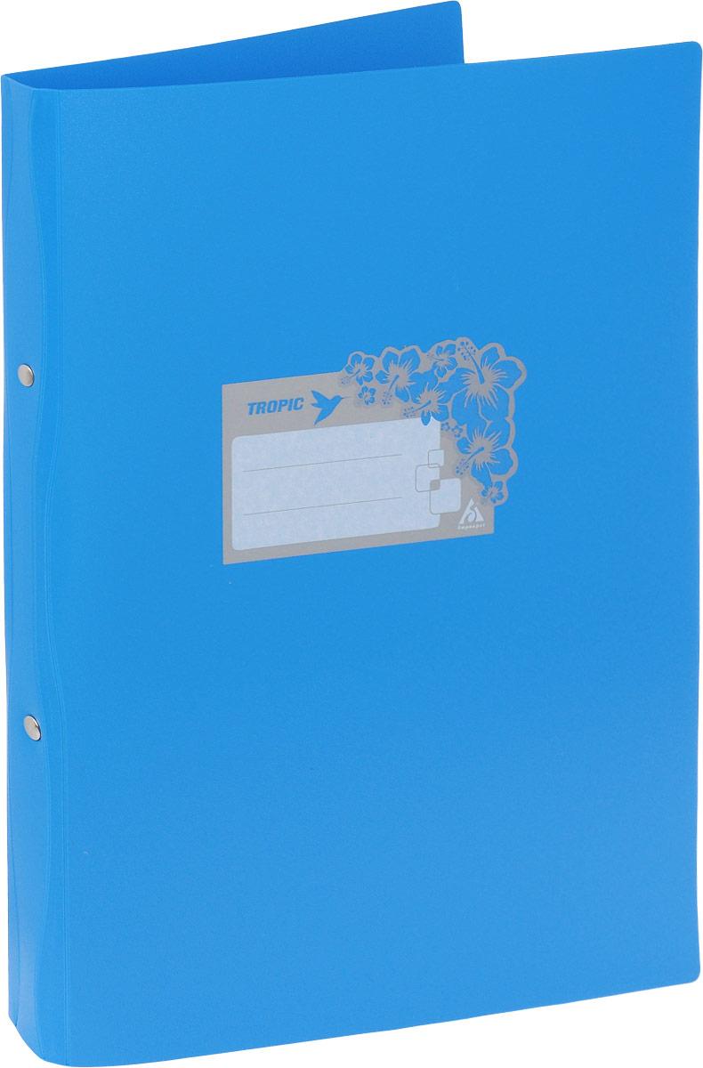 Бюрократ Папка-скоросшиватель Tropic формат А4 цвет голубой milli гамак с перекладинами tropic