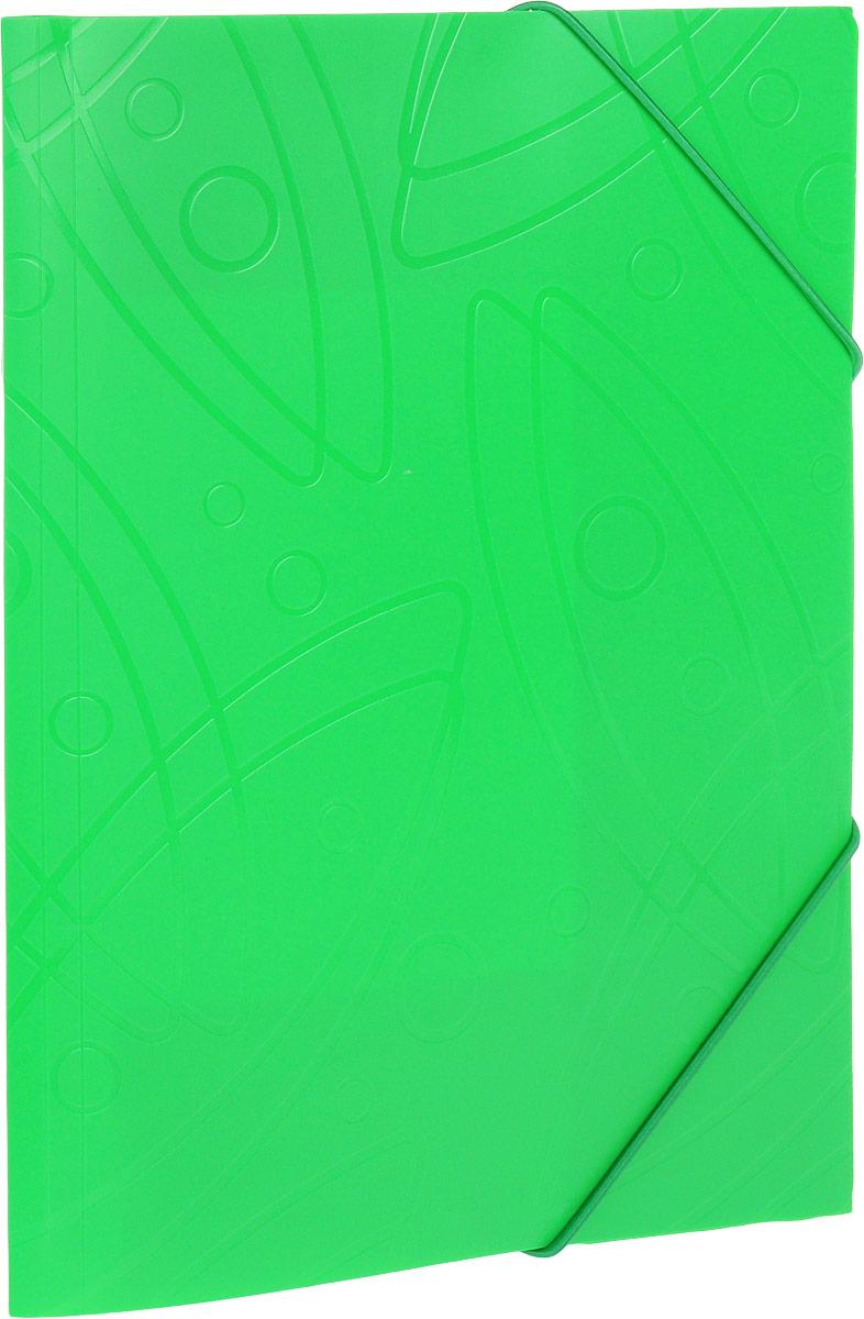 Бюрократ Папка на резинке Galaxy формат А4 цвет зеленый816765_зеленыйПапка на резинке Galaxy - это удобный и функциональный офисный инструмент, предназначенный для хранения и транспортировки большого объема рабочих бумаг и документов формата А4.Папка изготовлена из жесткого, но гибкого фактурного пластика и закрывается при помощи угловых резинок. Резинки не позволят папке раскрыться в неподходящий момент. Папка надежно сохранит ваши документы и сбережет их от повреждений, пыли и влаги.