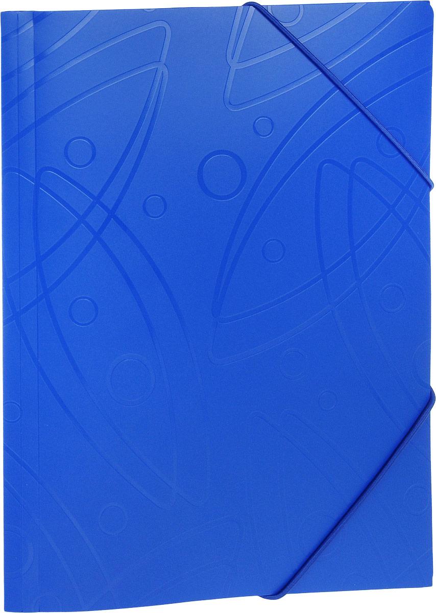 Бюрократ Папка на резинке Galaxy формат А4 цвет синий816765_синийПапка на резинке Galaxy - это удобный и функциональный офисный инструмент, предназначенный для хранения и транспортировки большого объема рабочих бумаг и документов формата А4. Папка изготовлена из жесткого, но гибкого фактурного пластика и закрывается при помощи угловых резинок. Резинки не позволят папке раскрыться в неподходящий момент. Папка надежно сохранит ваши документы и сбережет их от повреждений, пыли и влаги.
