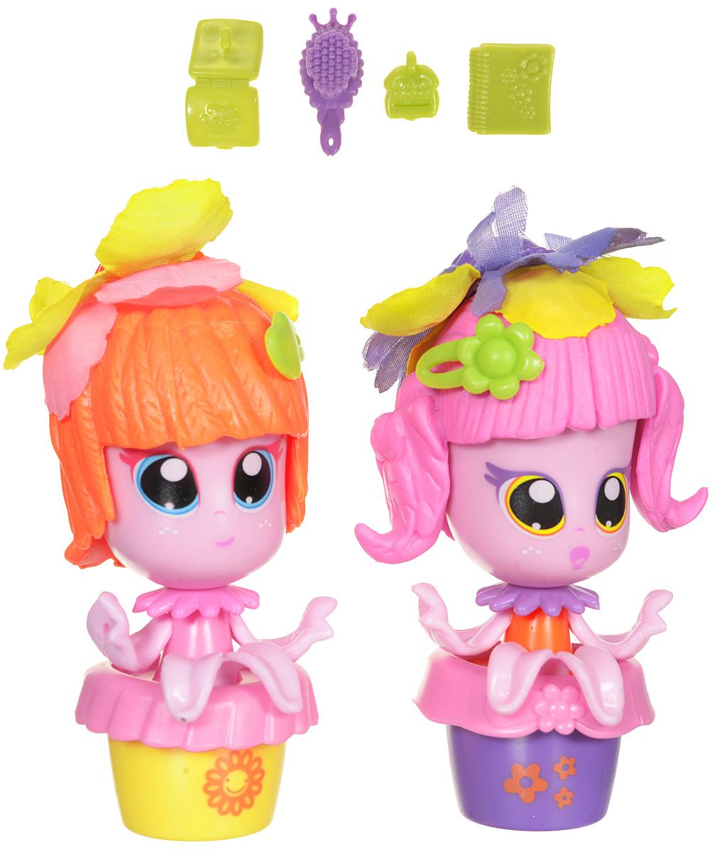 Daisy Игровой набор с мини-куклами Цветочек цвет розовый оранжевый 2 шт колыбель для куклы с аксессуарами белая для мини кукол