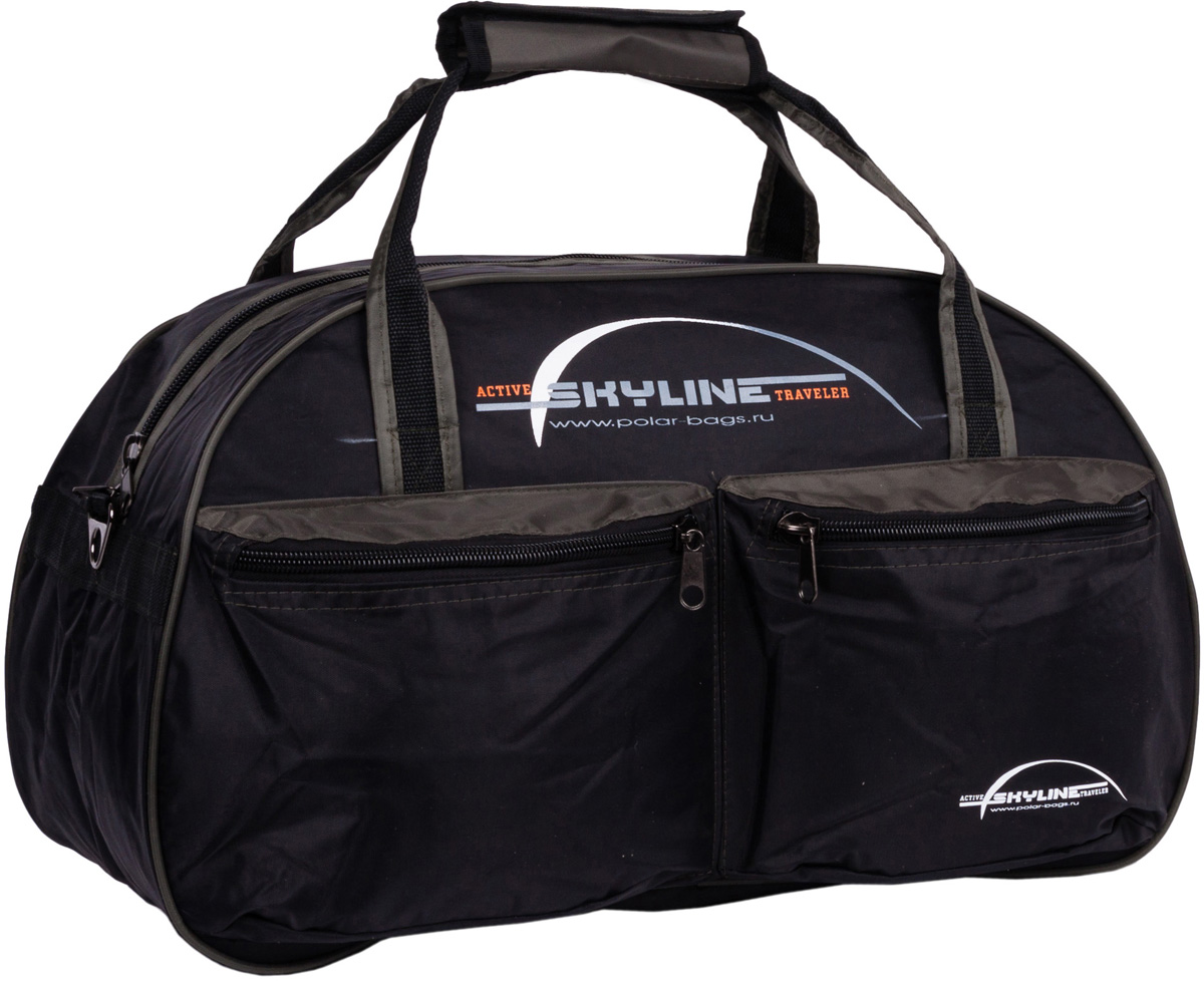 Сумка дорожная Polar Скайлайн, цвет: черный, хаки, 53 л, 54 x 34 x 29 см. П05П05Дорожная сумка Polar Скайлайн выполнена из нейлона с водоотталкивающий пропиткой. Сумка оснащена большим отделением для вещей и двумя карманами спереди. В комплект входит ремешок, для переноски сумки на плече.