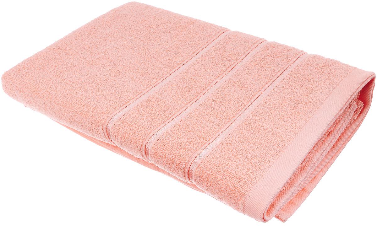 Полотенце хлопковое Home Textile, цвет: персиковый, 70 х 140 смLX-OZ012Полотенце Home Textile выполнено из качественной натуральной махры (100% хлопок). Мягкое и уютное полотенце прекрасно впитывает влагу и легко стирается. Кроме того, хлопковые полотенца отличаются высокой износоустойчивостью и долгим сроком службы. Такое полотенце подарит массу положительных эмоций и приятных ощущений.