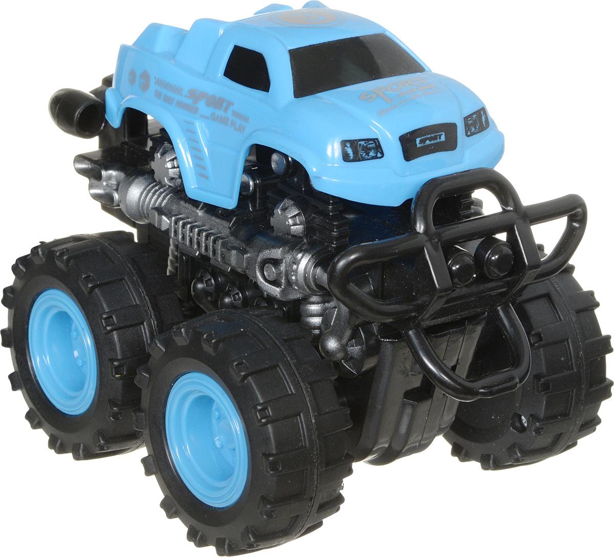 Big Motors Машинка инерционная 4WD цвет голубой пламенный мотор машинка инерционная volvo пожарная охрана