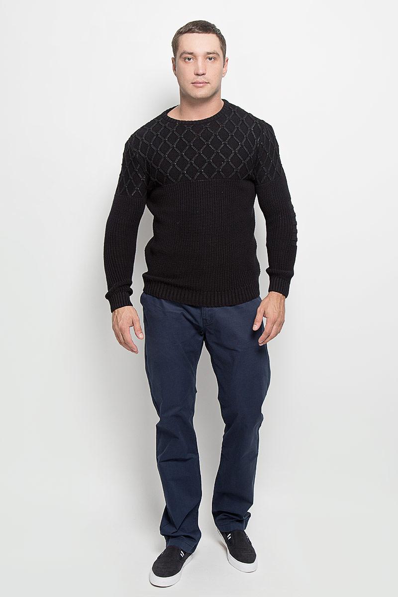 Джемпер мужской Mexx, цвет: черный. MX3001319_MN_PLV_010. Размер L (50/52) блузка женская mexx цвет молочный mx3002363 wm blg 010 размер l 48 50