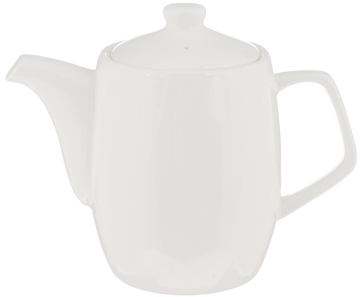 """Заварочный чайник """"Wilmax"""" изготовлен из высококачественного фарфора. Глазурованное покрытие обеспечивает легкую очистку. Изделие прекрасно подходит для заваривания вкусного и ароматного чая, а также травяных настоев. Отверстия в основании носика препятствует попаданию чаинок в чашку. Оригинальный дизайн сделает чайник настоящим украшением стола. Он удобен в использовании и понравится каждому. Можно мыть в посудомоечной машине и использовать в микроволновой печи.  Диаметр чайника (по верхнему краю): 8,5 см.  Высота чайника (без учета крышки): 11,5 см.  Высота чайника (с учетом крышки): 14 см."""