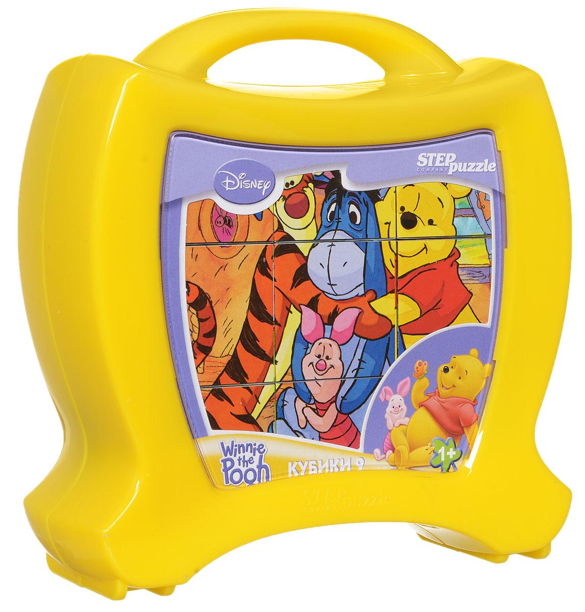 Step Puzzle Кубики Медвежонок Винни в чемоданчике