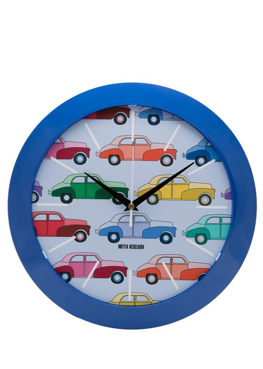Часы настенные Mitya Veselkov Цветные машинки, цвет: синий. MVC.NAST-004MVC.NAST-004