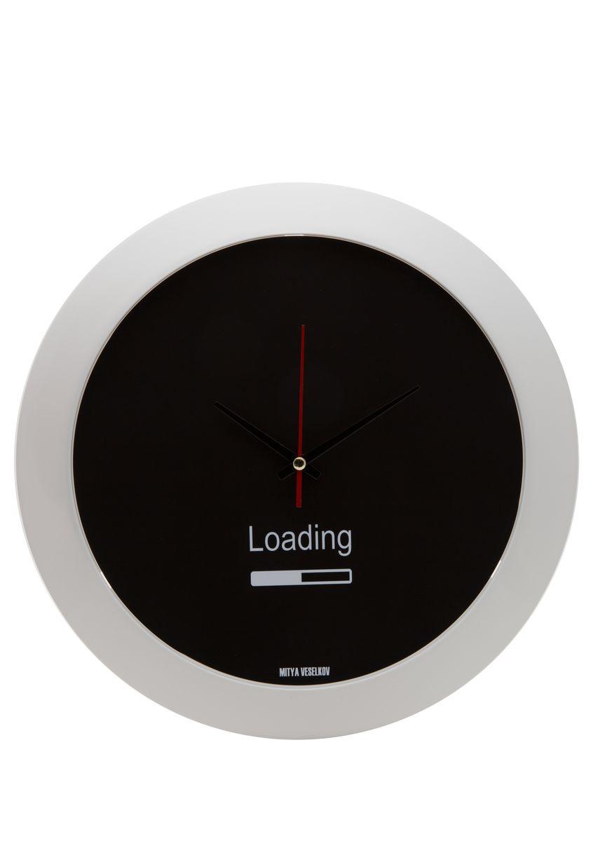 Часы настенные Mitya Veselkov Loading, цвет: белый. MVC.NAST-006MVC.NAST-006