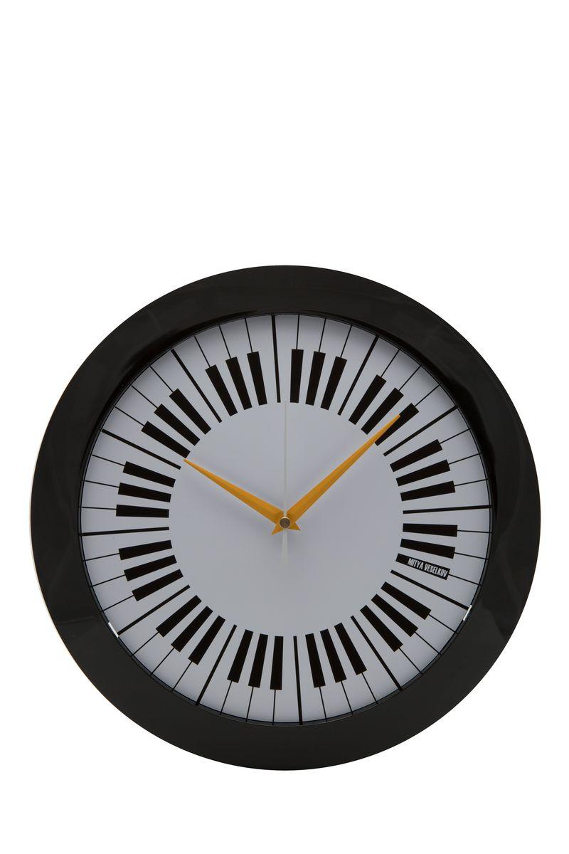 Часы настенные Mitya Veselkov Пианино, цвет: черный. MVC.NAST-007