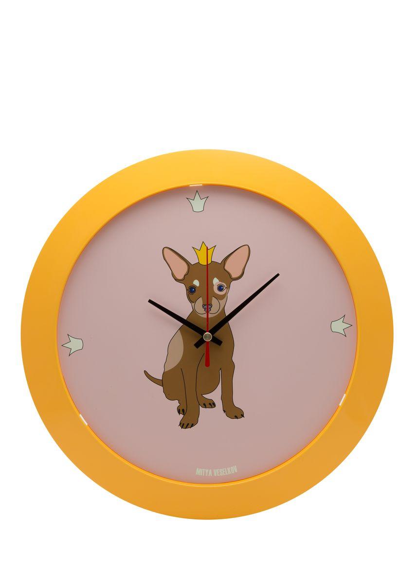 Часы настенные Mitya Veselkov Той в короне, цвет: желтый. MVC.NAST-011