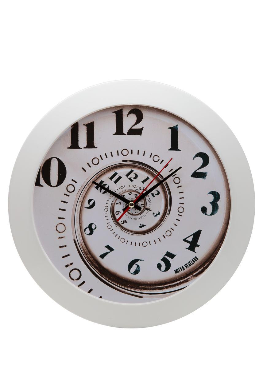Часы настенные Mitya Veselkov Спираль времени, цвет: белый. MVC.NAST-012