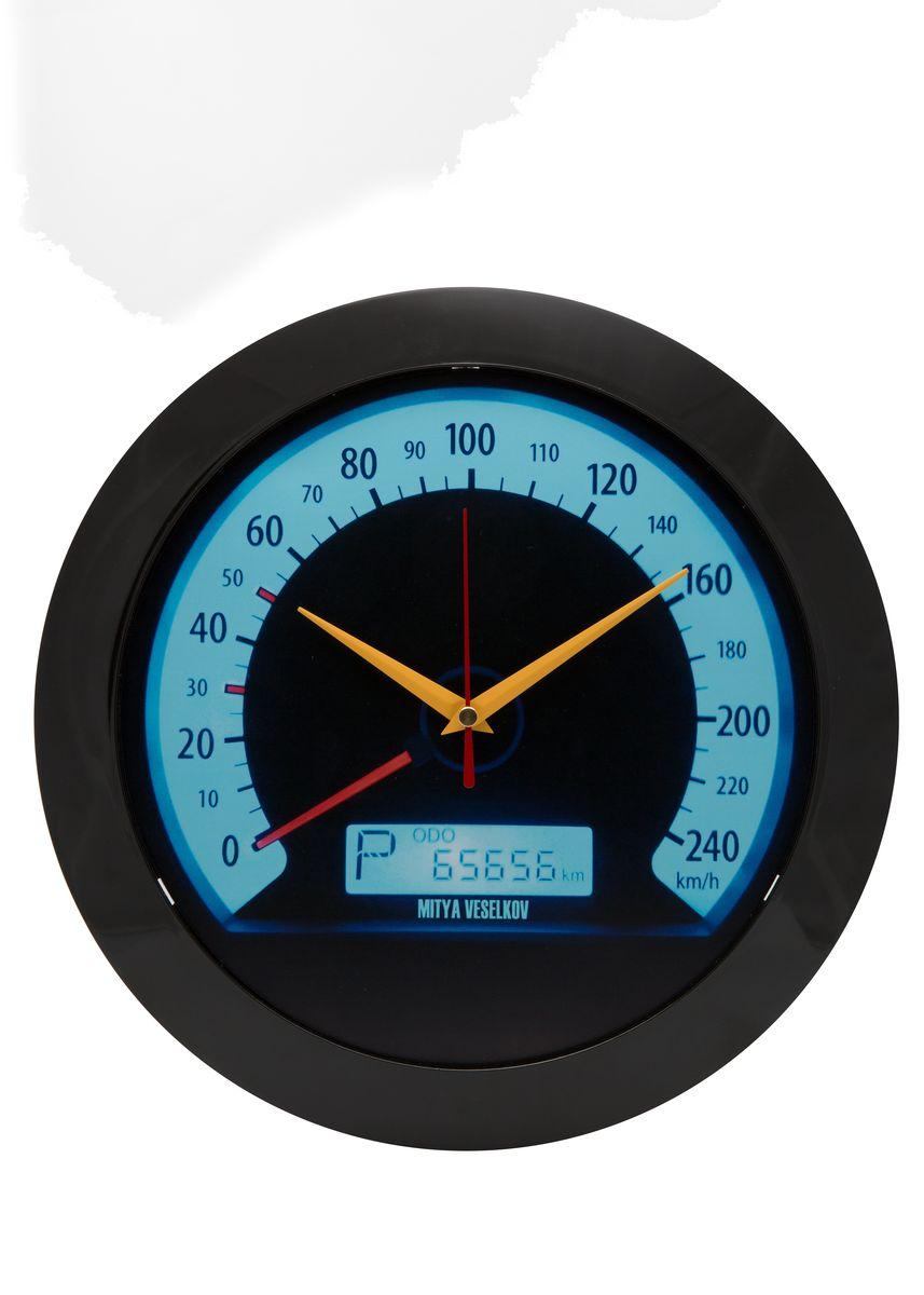 Часы настенные Mitya Veselkov Скорость, цвет: черный. MVC.NAST-017