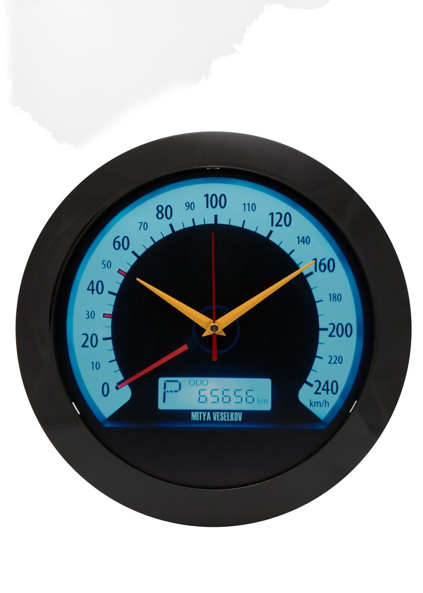 Часы настенные Mitya Veselkov Скорость, цвет: черный. MVC.NAST-017MVC.NAST-017