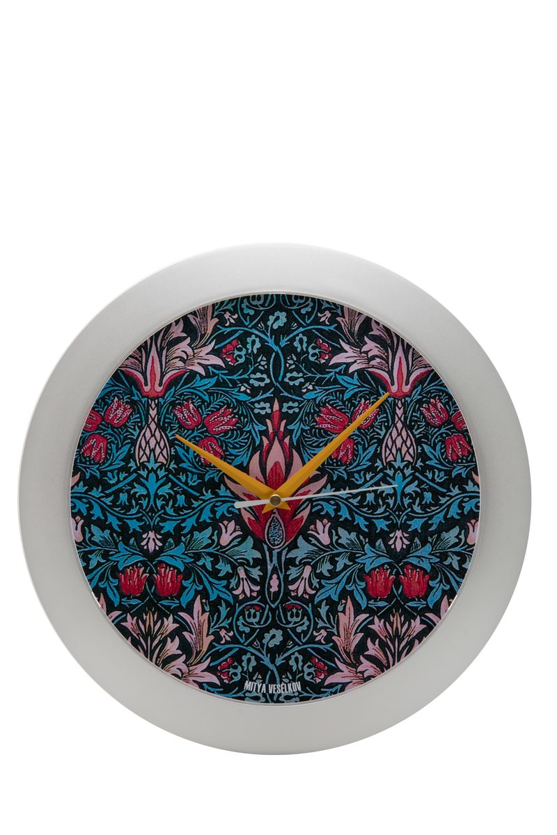 Часы настенные Mitya Veselkov Тюльпановый принт, цвет: белый. MVC.NAST-022