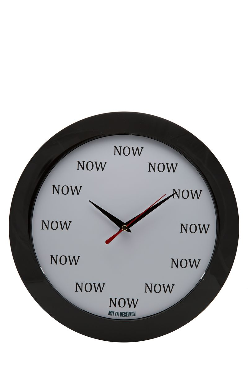 Часы настенные Mitya Veselkov NOW, цвет: белый. MVC.NAST-024MVC.NAST-024
