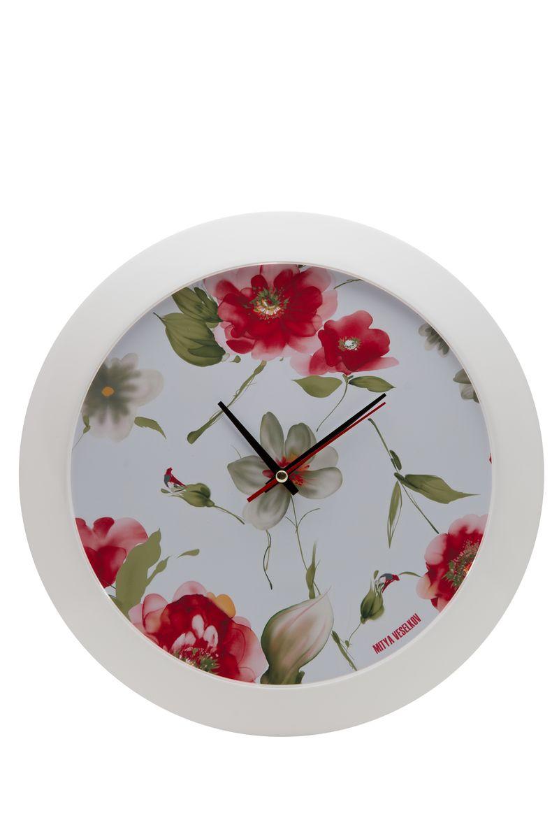 Часы настенные Mitya Veselkov Акварель, цвет: белый. MVC.NAST-035