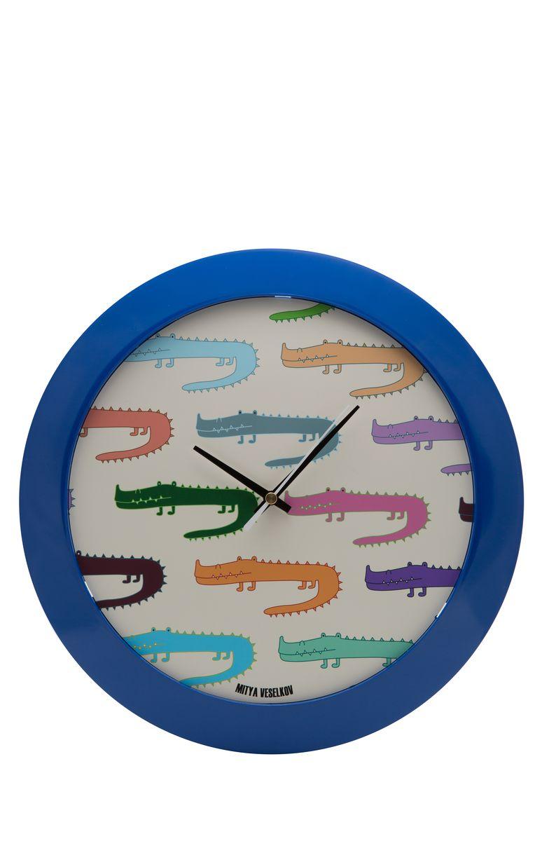 Часы настенные Mitya Veselkov Цветные крокодилы, цвет: синий. MVC.NAST-041