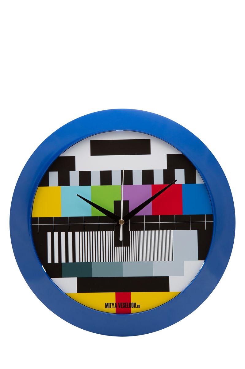 Часы настенные Mitya Veselkov ТВ-сетка, цвет: синий. MVC.NAST-048