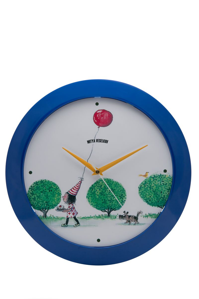 Часы настенные Mitya Veselkov Праздничный день, цвет: синий. MVC.NAST-049